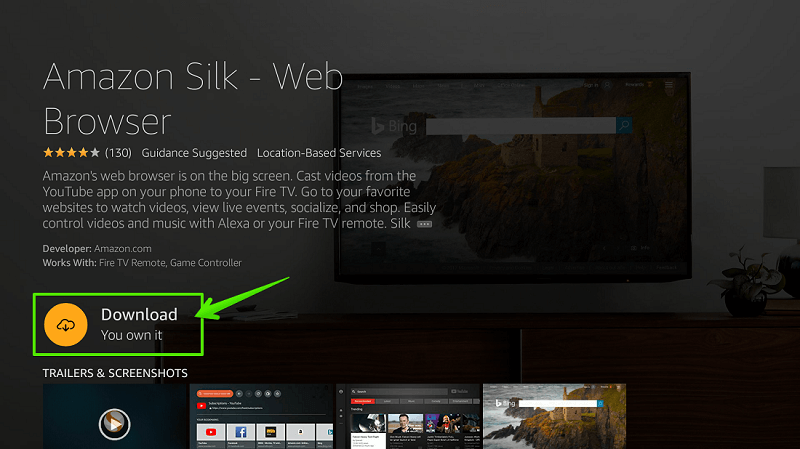 Silk Browser for Firestick
