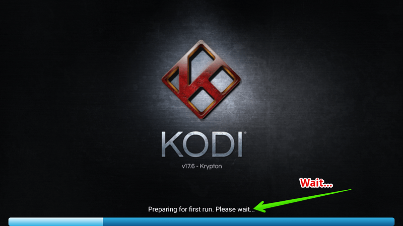 Kodi Krypton 17.6 loading on Firestick