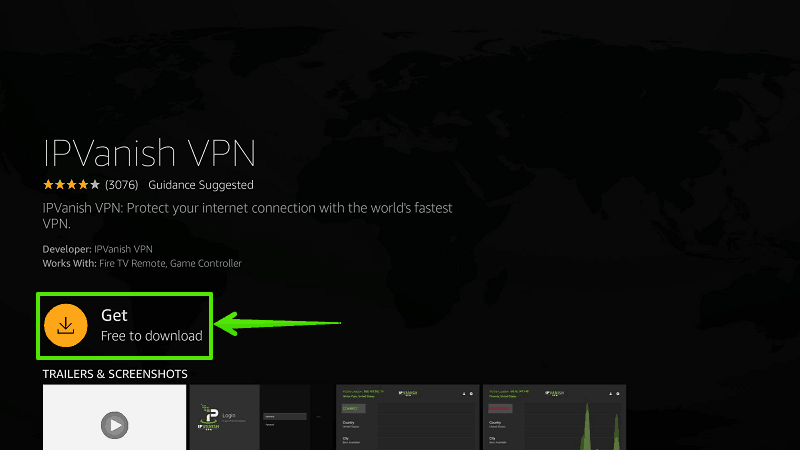 Steps to install IPVanish VPN on Firestick