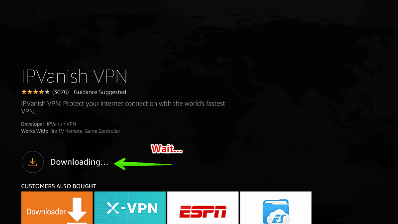 Process to install IP Vanish on Firestick