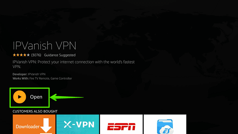 Install IPVanish on Firestick