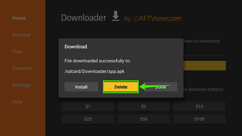 Delete source file Ckay TV Apk