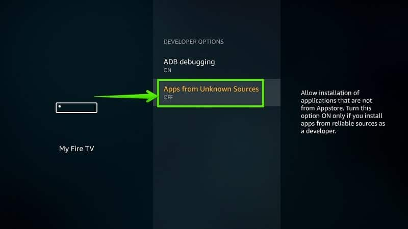 Allow Apps from Unknown Sources