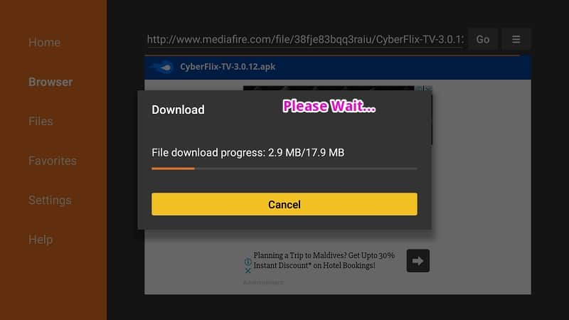 Download Cyberflix TV for FireStick