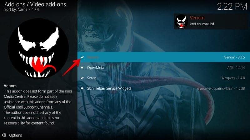 Best Exodus Fork Venom