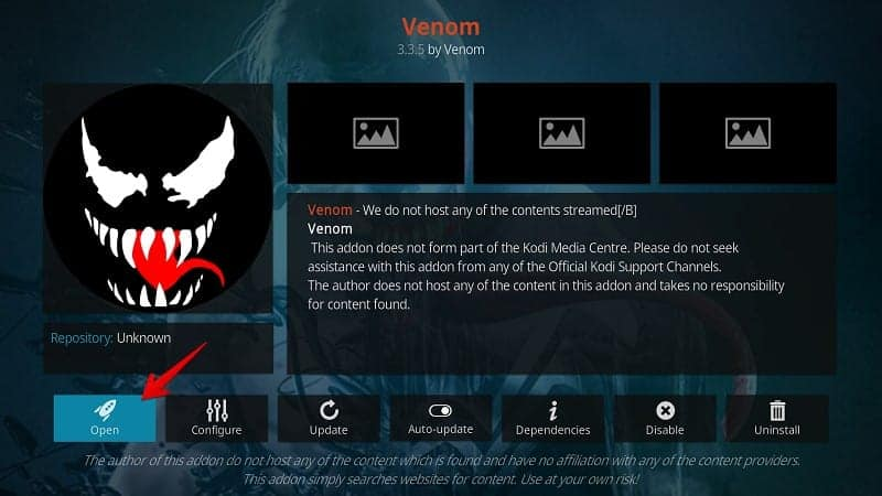 Steps to install Venom Kodi Add-on