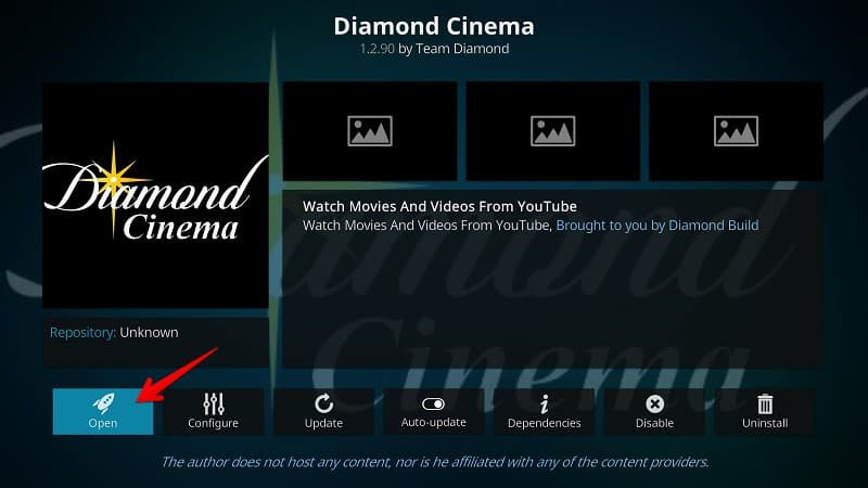 Install Diamond Cinema Kodi Addon