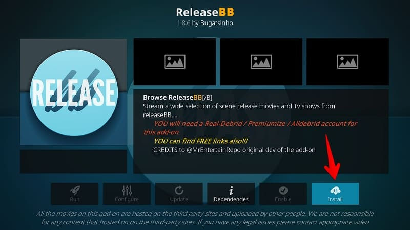 Install ReleaseBB Kodi Addon 2