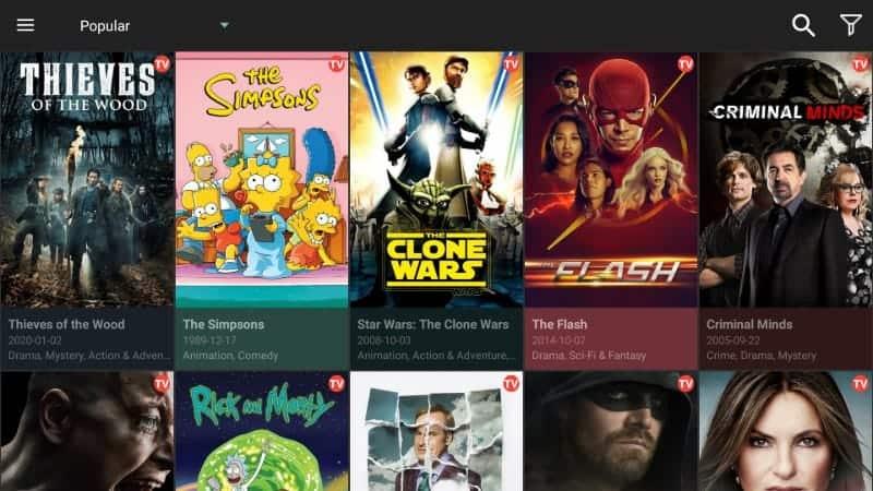 Cinema HD Dashboard