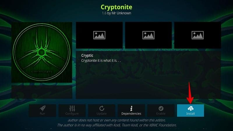 Cryptonite Kodi Addon