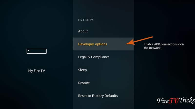 Firestick Developer Options