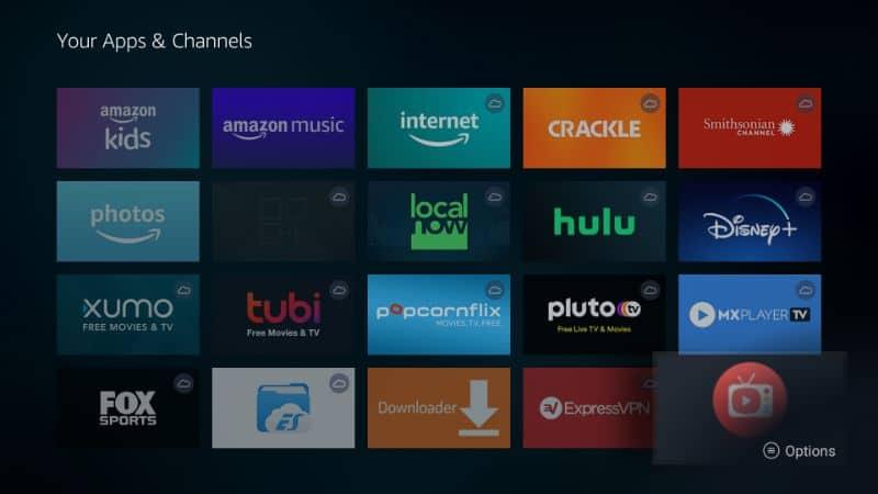 Launch AOS TV on Firestick