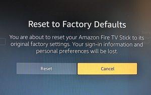 How to factory reset firestick